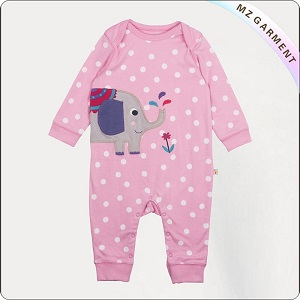 Kids Organic Polka Dot Playsuit