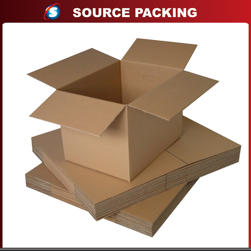 Customized recycled corrugated shipping carton box with color printing