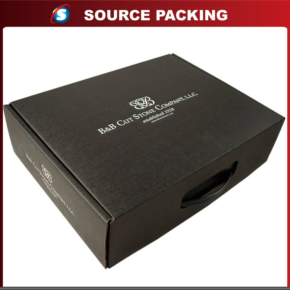 Custom printing paper retail packaging boxes with handle