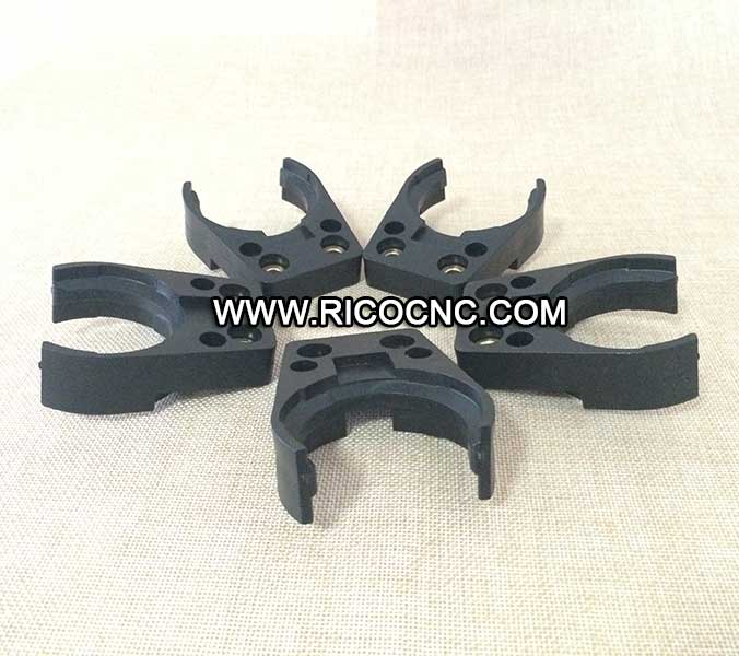 Black BT40 Tool Forks Plastic Tool Grippers for CNC Machine