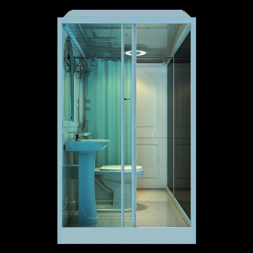 Unit bathroom pods for construction site caming boat house