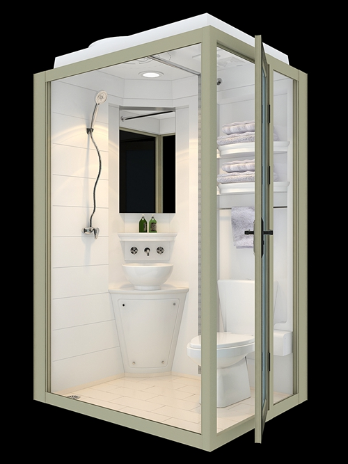 Ready made bathroom units for domitory student stays container house