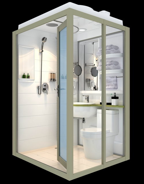 Container house bathroom pods