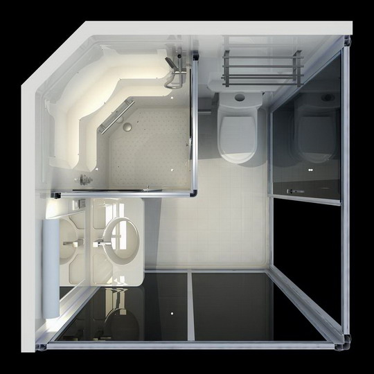 Prefabricated structure bathroom pods for refuge