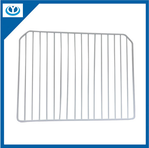 Refrigerator Shelf Technology:It is made of low-carbon steel wire or stainless steel wire through cutting,bending, and welding. Finish: PE Coated,Galvanized and then PVC Coated, Chrome plated or elect