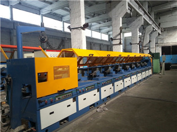 Straight type low carbon steel wire drawing machine
