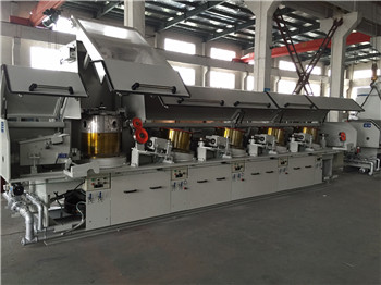 Straight type stainless steel wire drawing machine
