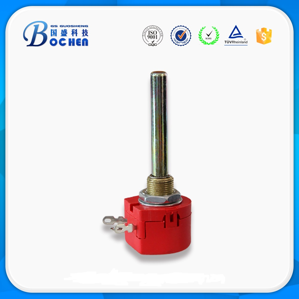 WX118  1w Precision One turn 50mm long shaft Wirewound Rotary Potentiometer