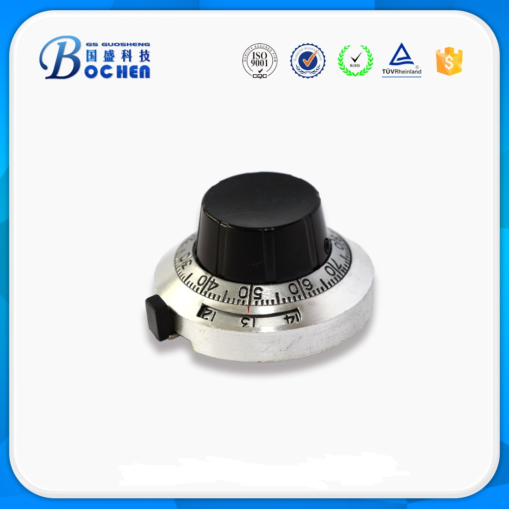 H-46-6A B2 46mm digital counting dial 6.35mm metal dial and knobs for potentiometer