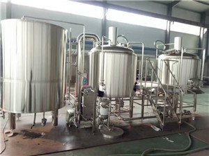 2000L 3 vessels draught beer brewery plant mash tank equipment supplier