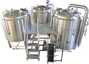 3 vessel 1000L beer brewing whirlpool tank machine