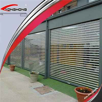 New Design Commercial Window Transparent Roll Up/rolling/roller Shutter Doors