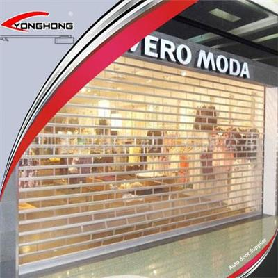 Electric Remote Transparent Roller Shutter Doors