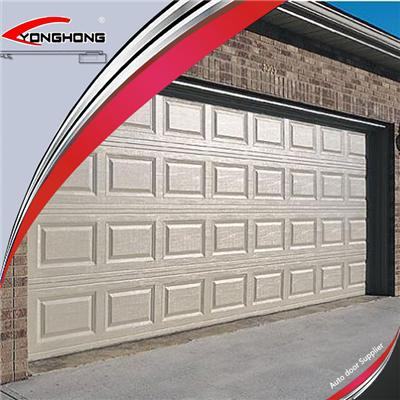 Modern Steel Double Overhead Sectional Garage Door With Door