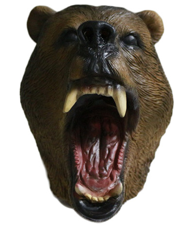 Animated film Toys Realistic Angry grizzly bear mask