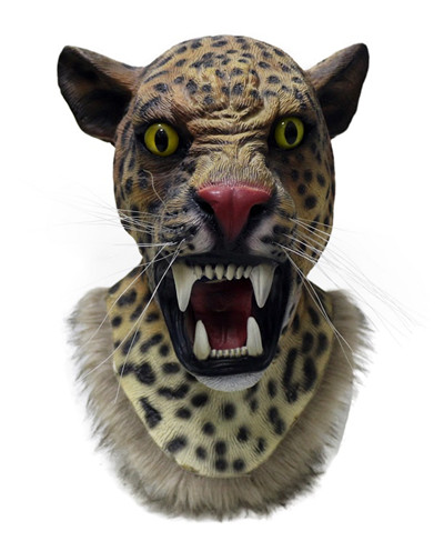 Top Selling Lively Jaguar Head Mask Latex Halloween Costume