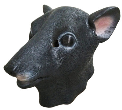 Hot Sale Deluxe Quality Rat Party Dress Masks Adult Rubber/Latex Rat Mask