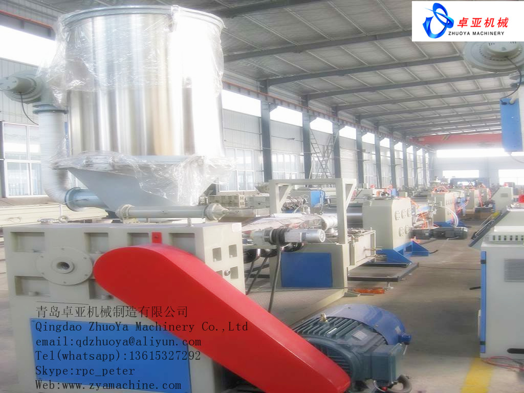Plastic wire drawing machine