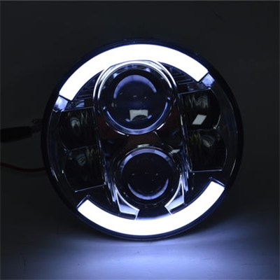 7 Inch Round 80W Led Headlight For Jeep