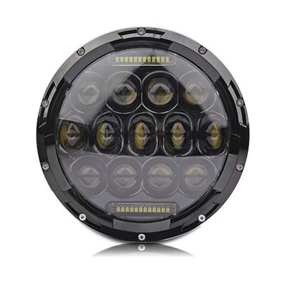 7 Inch 75W Round High Low Driving Beam LED Headlight For Jeep Wrangler Harley