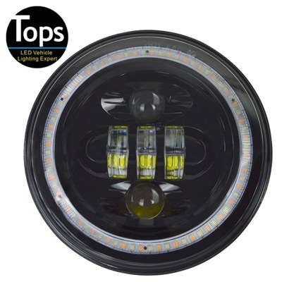 7 Inch 50W Round High Low Beam LED Headlight For Jeep Hummer