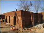traditional brick structure wood briquette carbonization furnace