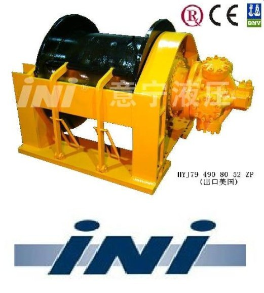 INI 49 ton hydraulic winch with rope roller,rope roller winch