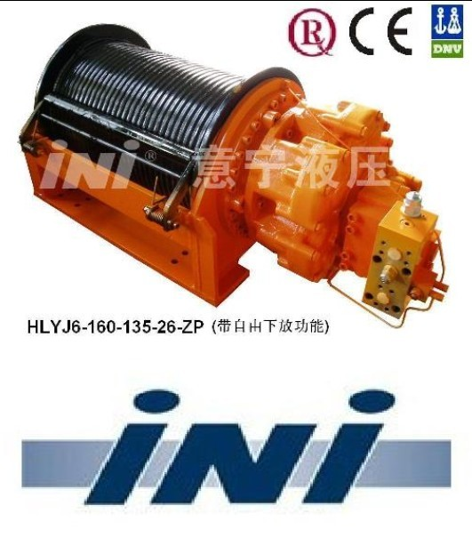 INI invention patent 16ton hydraulic free fall winch