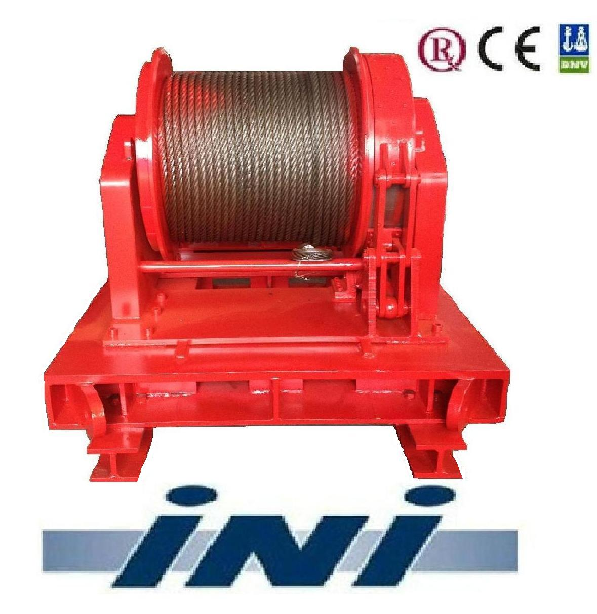 INI 10 ton two speed mooring winch for offshore,offshore winch