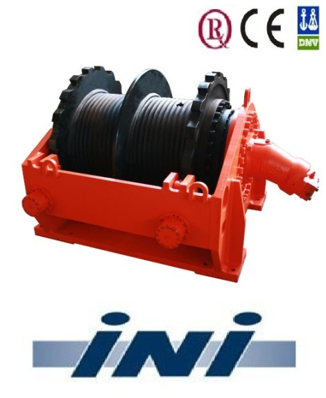 INI grooved drum 15 ton hydraulic winch pulling winch
