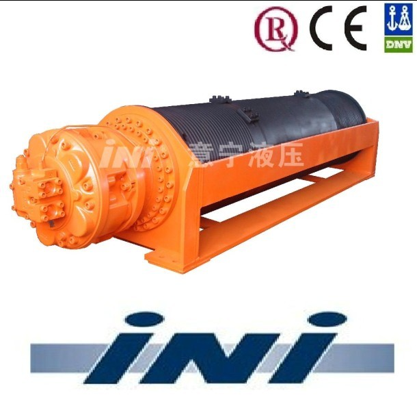 horizontal type double drum hydraulic marine winch