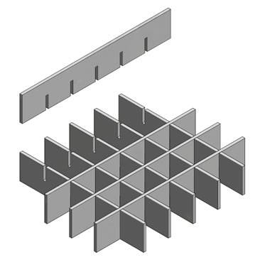 Press-locked Grating - Excellent Lateral Stiffness