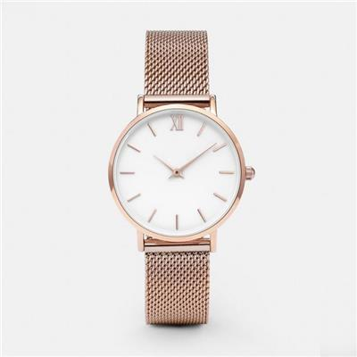 Rose Gold O Clock Ultra Slim Wrist Watch Womens
