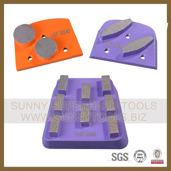 Quick Change metal bond segment Abrasive block plate For Lavina Grinder machine