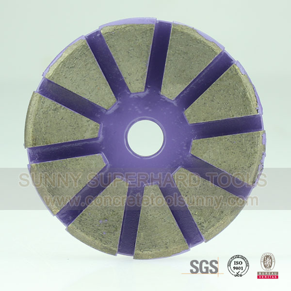 3 Diamond Metal Bond Floor Polishing Pads for Concrete Grinding
