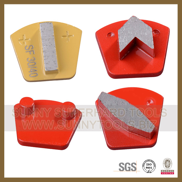 2 Pin Magic Tape Diamond Abrasive Pad Tool for Concrete Grinding