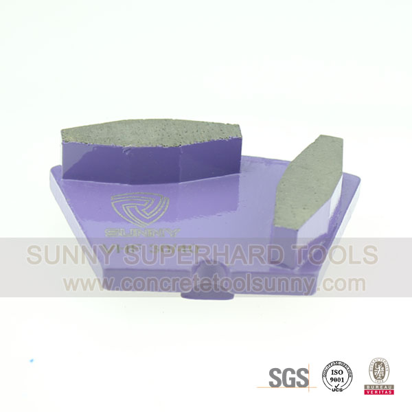 Wet Type Redi-Lock Concrete Floor Grinding Pad For Scanmaskin Grinder