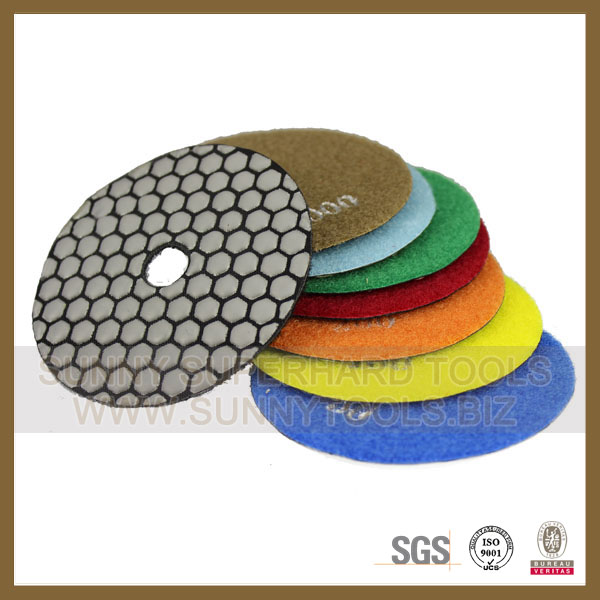 3 4 5 inch dry Wet diamond polishing pad for marble