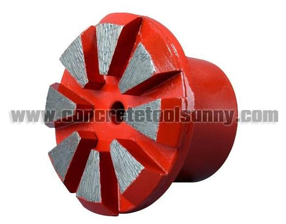 Diamond metal Plugs polishing pad for concrete processing