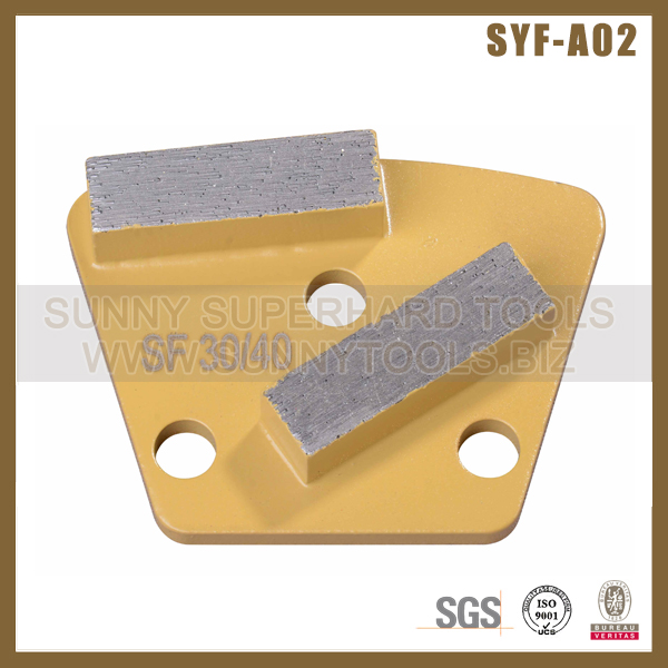 Trapezoid holder metal polishing pad Grinding Shoes for concrete terrazzo grinding machine