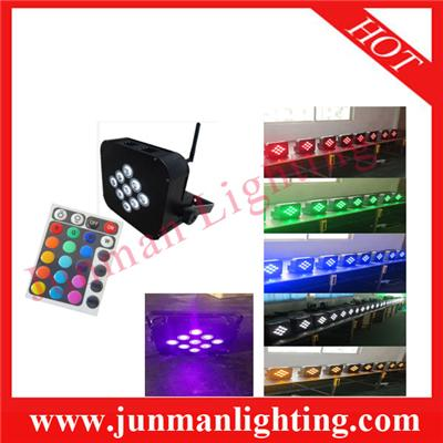 9*18w RGBWA+UV 6 In 1 Wireless DMX512 Battery Power IR Remote Control LED Par Light Party DJ Light