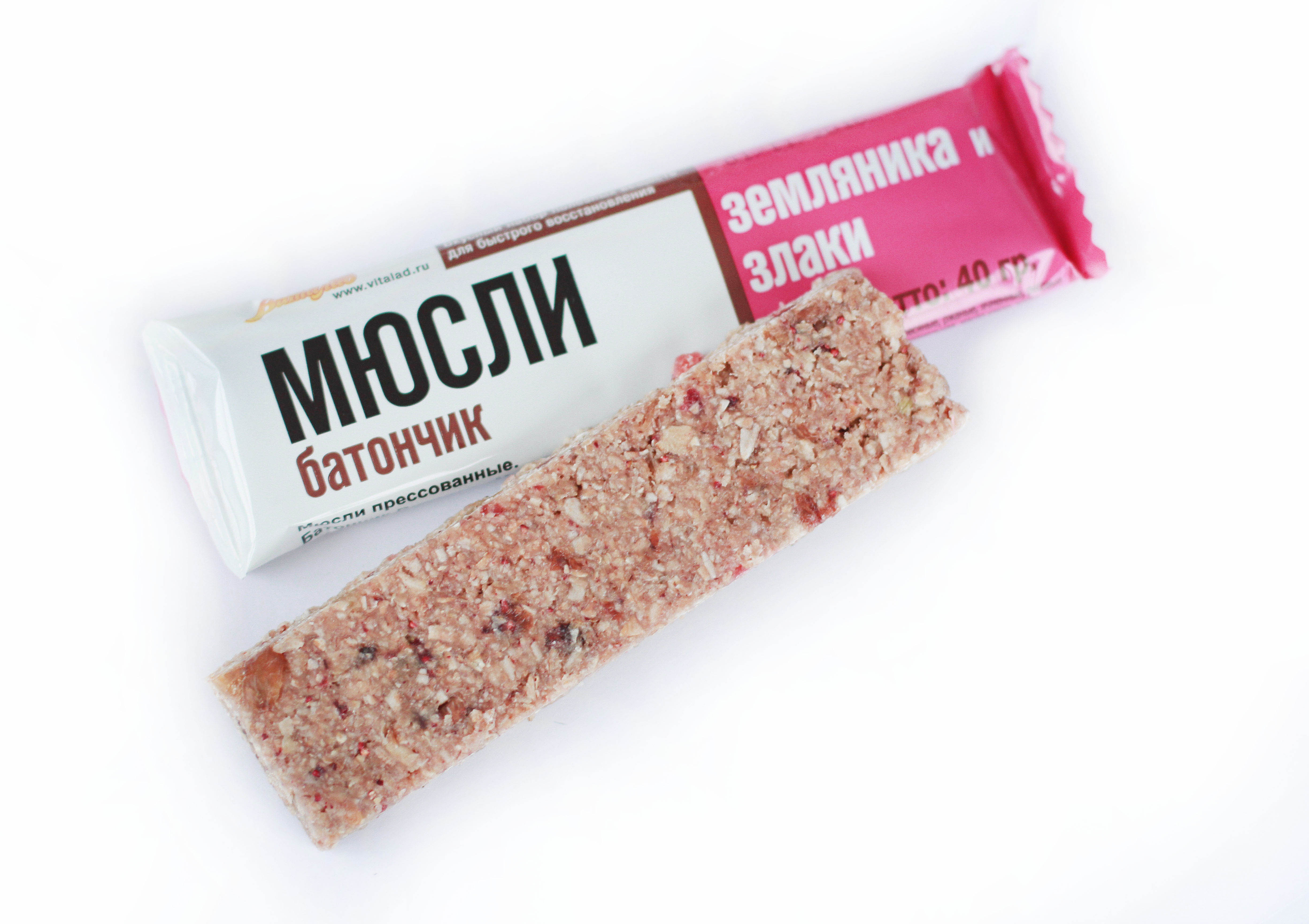 Muesli-bar Wild strawberry and cereals, 40 grams