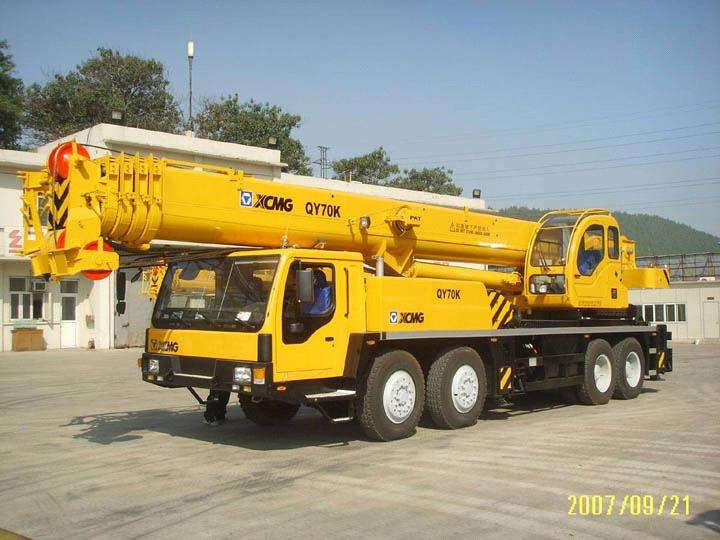 Engine power 276kw,XCMG hydraulic Truck Crane QY70K-I