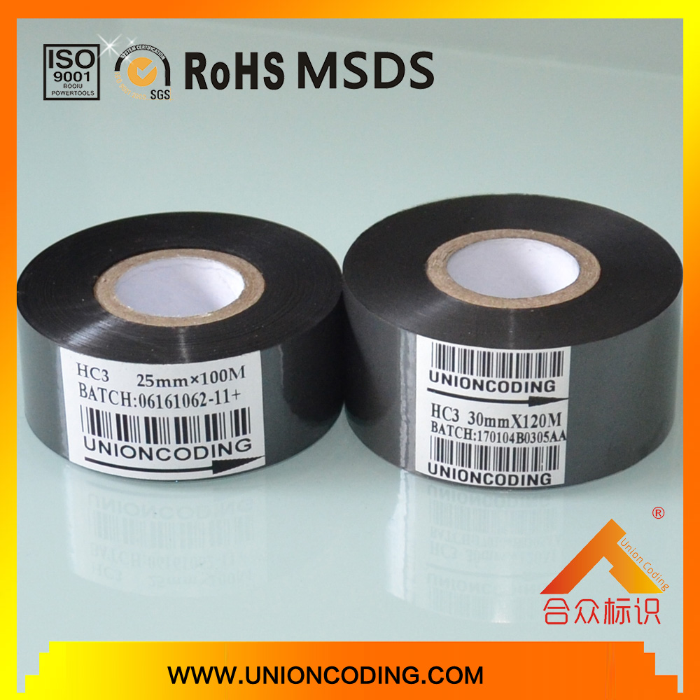 HC3 type Black color 30mm width coding foil for Packaging bags