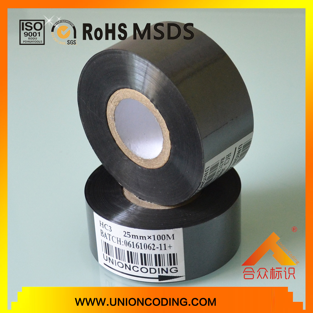 HC3 type Black color 30mm width ink ribbon for Packaging bags