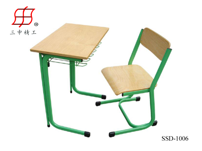 single desk and chair