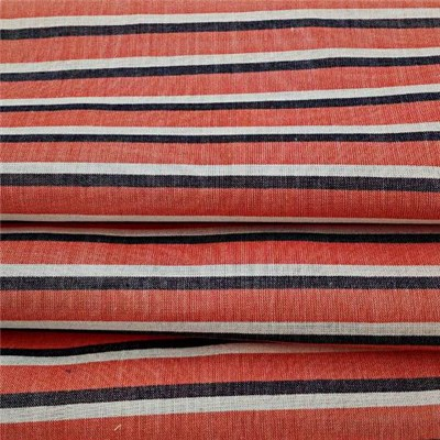Pure Cotton Orange Cross Stripe