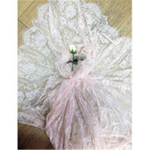 Customized 100% nylon party dress yelash lace trims/fabric