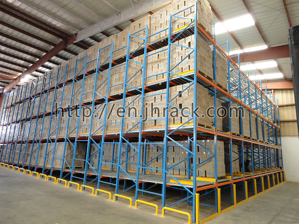 Gravity Racking Flow Pallet Racking Carton Flow Racking