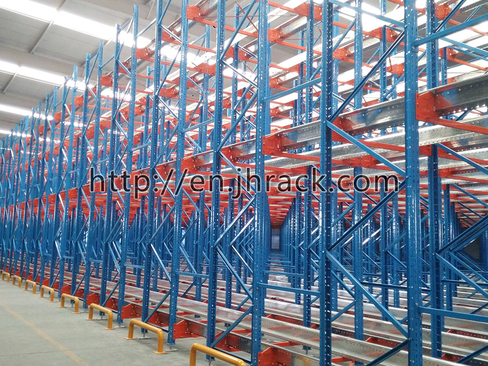 china Satelite Storage steel radio shuttle Racking System manufacturer
